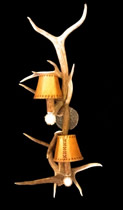 Antler Wall Sconces Light up stairways, hallways and bedrooms.