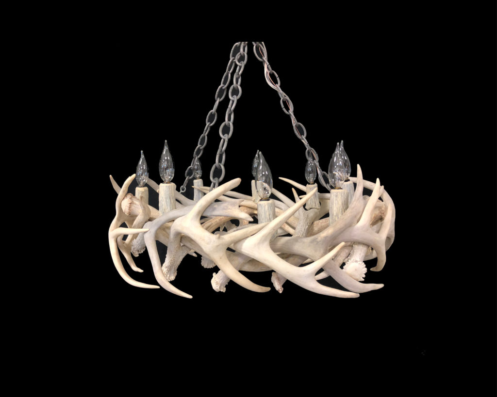 Real Mule Deer Antler Chandelier